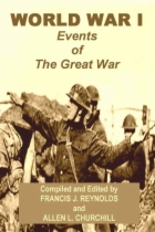 World War 1 - Events of The Great War by Francis J. Reynolds and Allen L. Churchill book cover