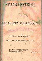 Frankenstein; The Modern Prometheus by Mary Wollstonecraft Shelley book cover