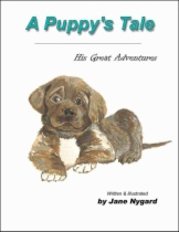 A Puppy's Tale - His Great Adventures by Jane Nygard book cover