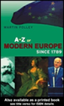 A-Z of Modern Europe Since 1789 by Martin Polley book cover