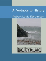 A Footnote to History by Robert Louis Stevenson book cover